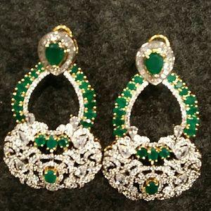 Jewelry - American Diamond earrings. Never worn